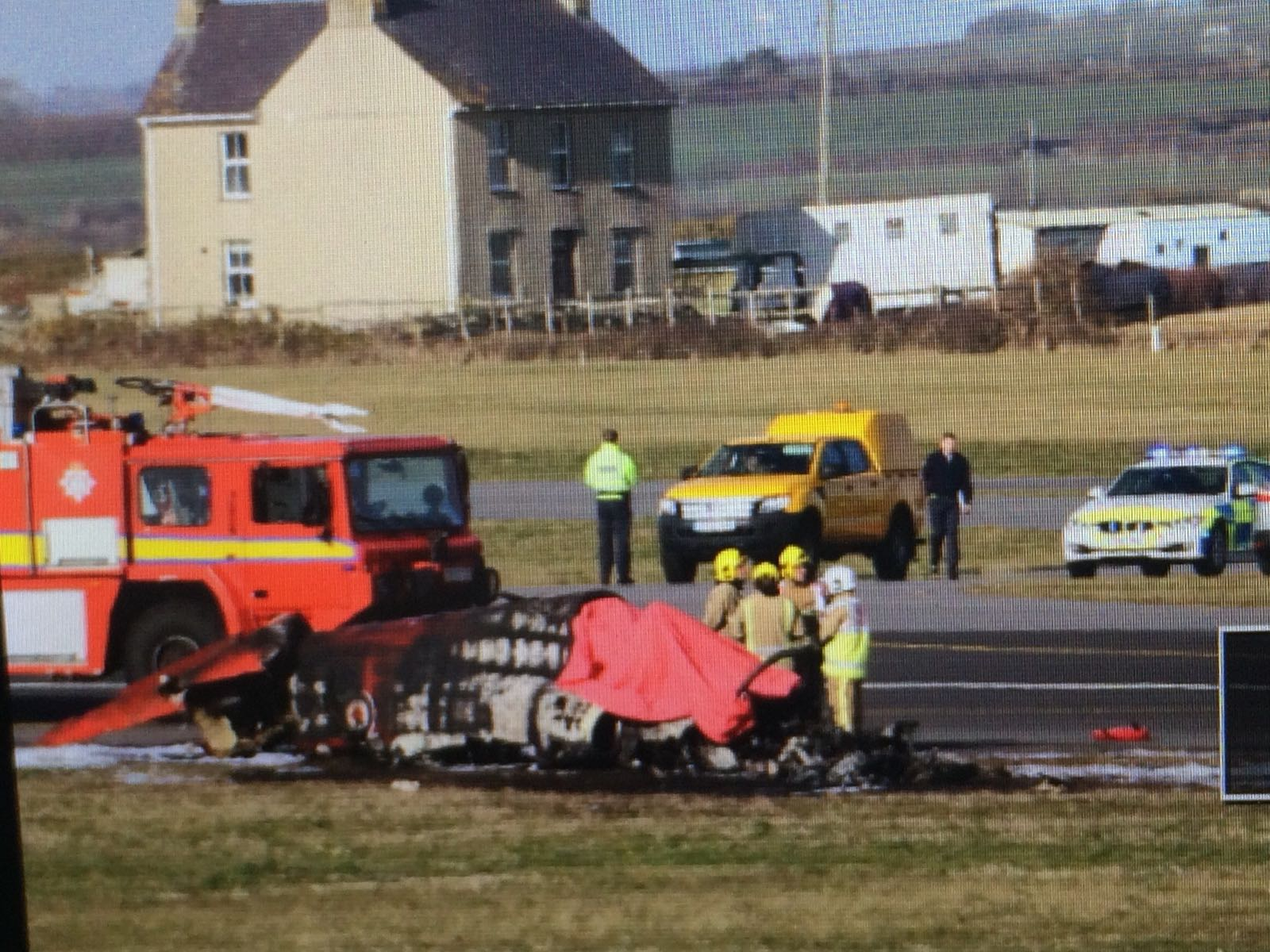 Red Arrows' plane crashes at RAF base